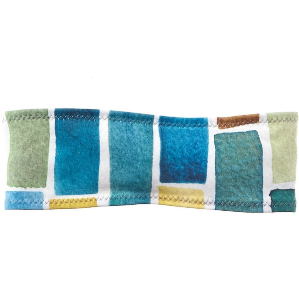 Watercolor Blocks Sweatband - Ponya Bands