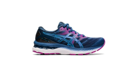 Gel-Nimbus 23 Womens - Grand Shark/Digital Aqua (Wide D)