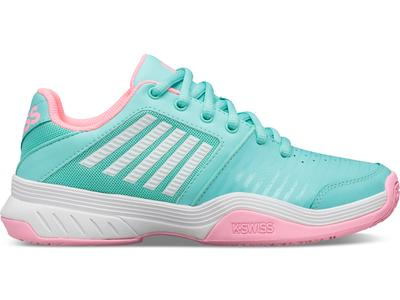 K-SWISS COURT EXPRESS OMNI -ARUBA BLUE/SOFT NEON PINK/WHITE (KIDS)