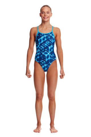 Funkita Girls Diamond Back One Piece - Another Dimension