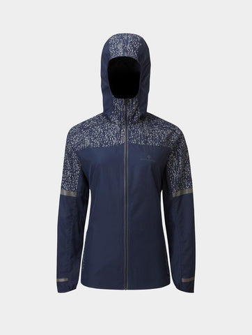 Ron Hill Life Runner Night Jacket Womens - Deep Navy/Reflect