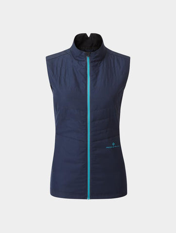 Ron Hill Womens Tech Winter Gilet - Deep Navy/Spa Green