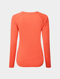 Ron Hill Women's Core L/S Tee - Hot Pink Marl/Chambray