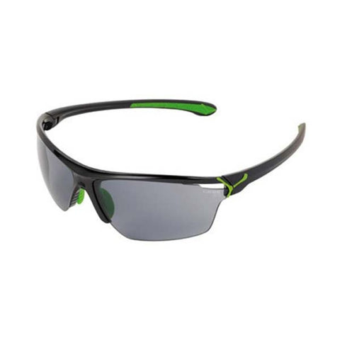Cebe Running Sunglasses - Shiny Black/Green
