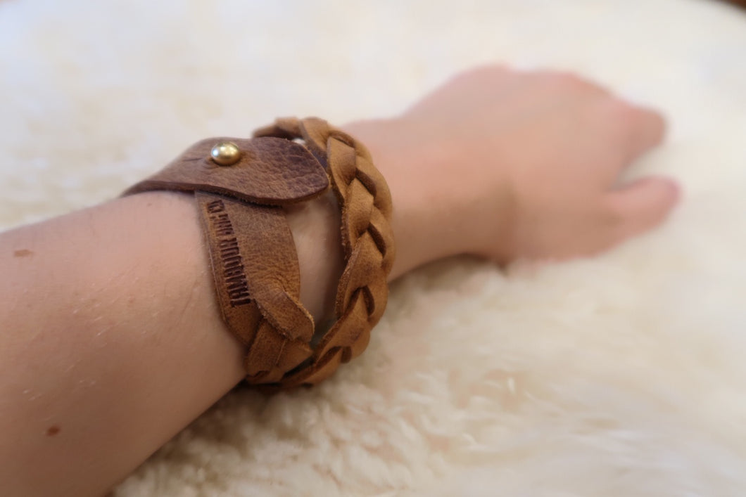 Braided Double-Wrap Bracelet