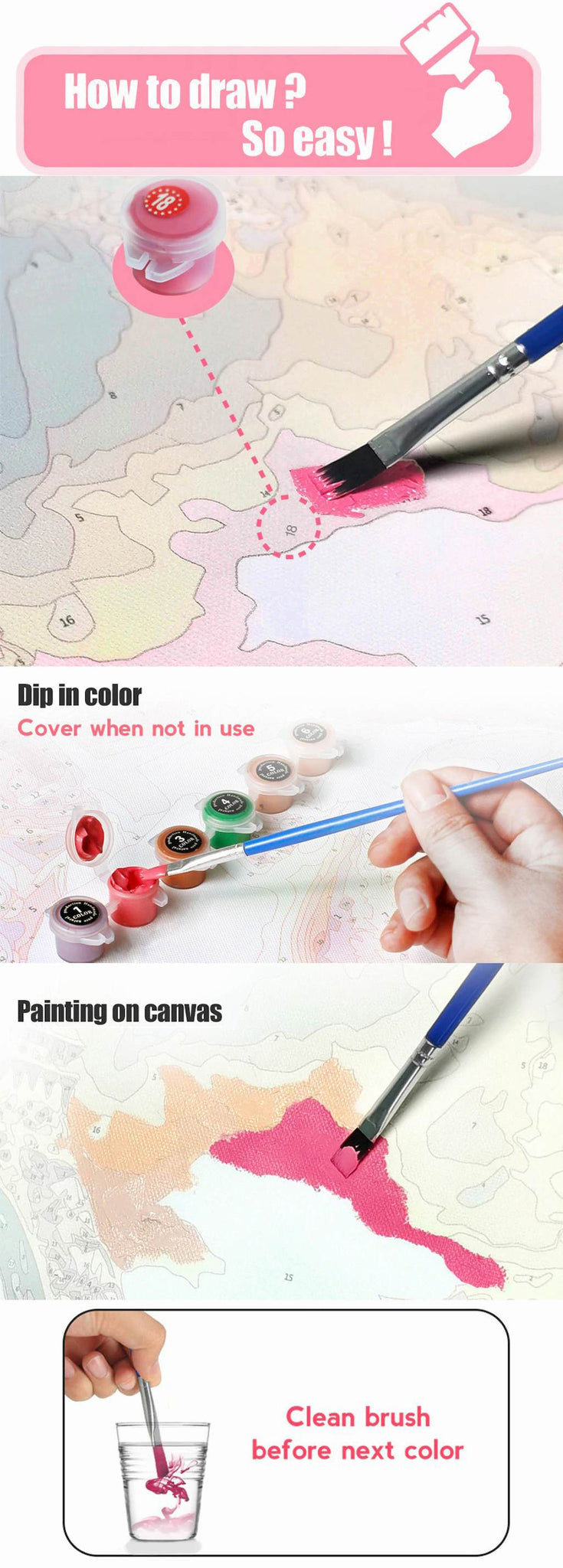 How to paint by numbers oil painting