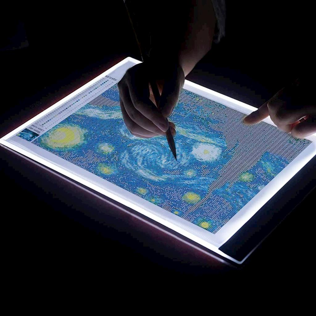 A5 LED Light Pad for Diamond Painting, USB Powered Light Board Kit, Adjustable Brightness
