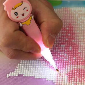 5D Diamond Painting Tools Drill Pen with Light