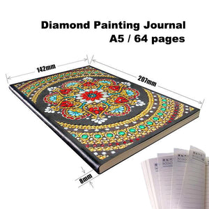 Diamond Painting Journal — Red Floral Mandala