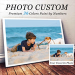 custom paint by number kits 36 colors