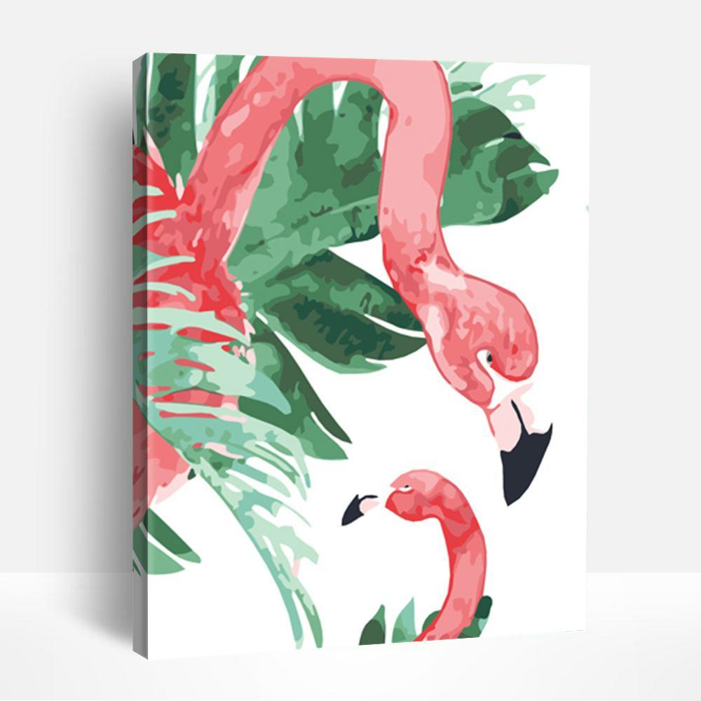 Coloring Flamingo | Paint By Numbers