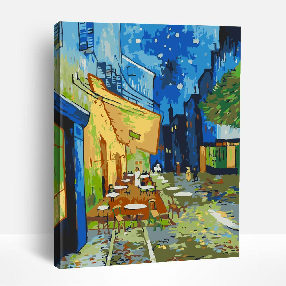 Café Terrace at Night | Paint By Numbers