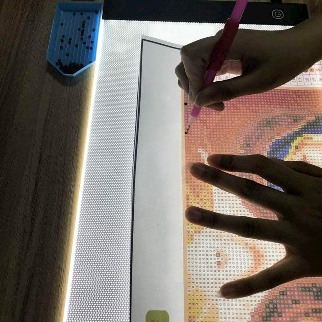 A4 LED Light Box, diamond painting Light Pad Apply to diy 5D Diamond painting, see symbols and numbers clearer, light pad