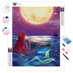 The Little Mermaid Watching the Moon | Diamond Painting