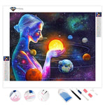 Planets Woman | Diamond Painting