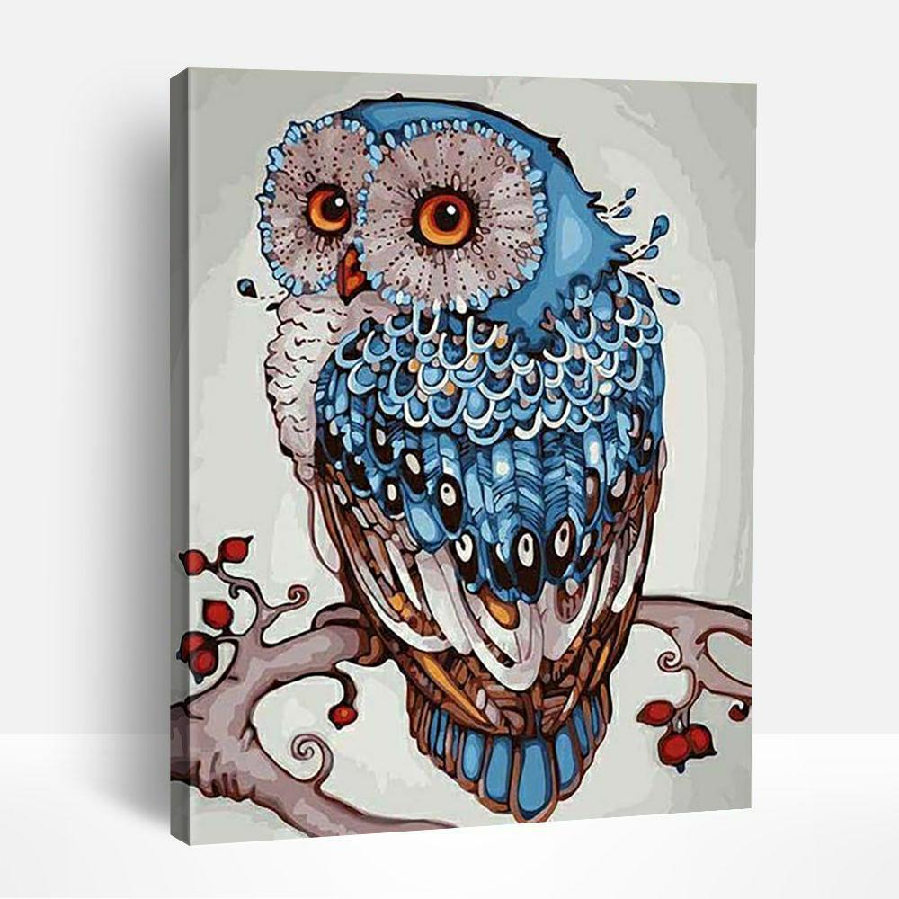 Abstract Owl | Paint By Numbers