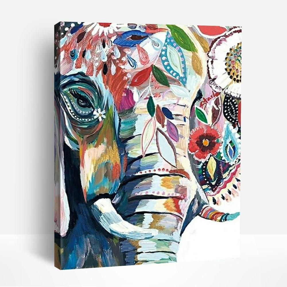 Abstract Elephant | Paint By Numbers