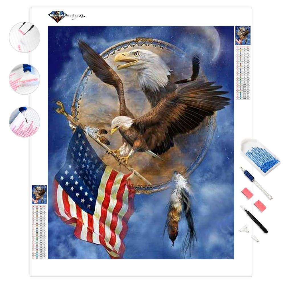 Freedom Eagle Shield | Diamond Painting