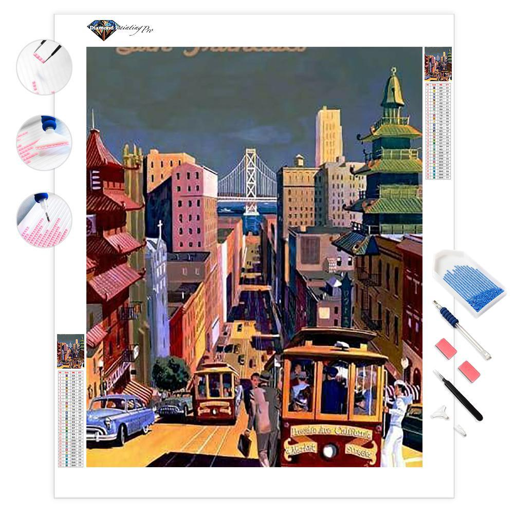 San Francisco Vintage Poster | Diamond Painting