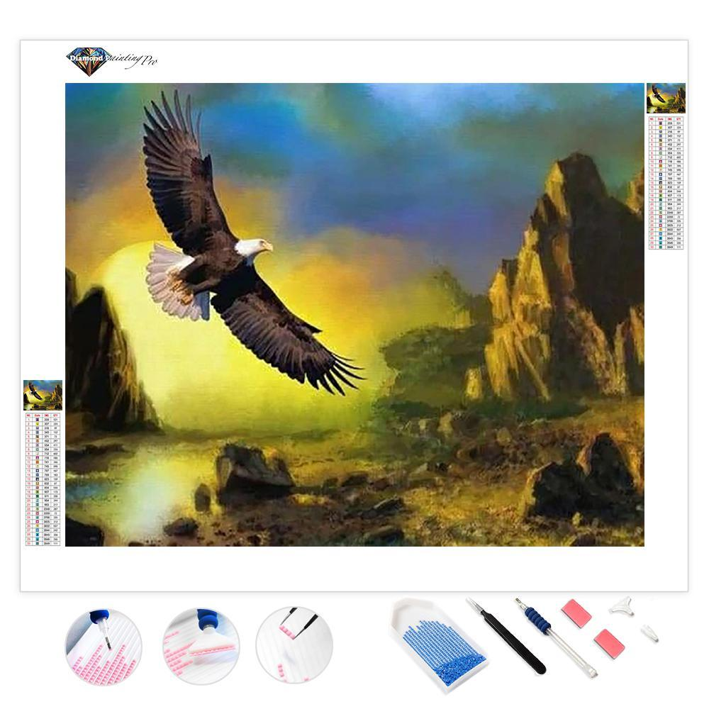 Eagle over Land | Diamond Painting