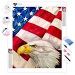 The Eagle and the Flag | Diamond Painting