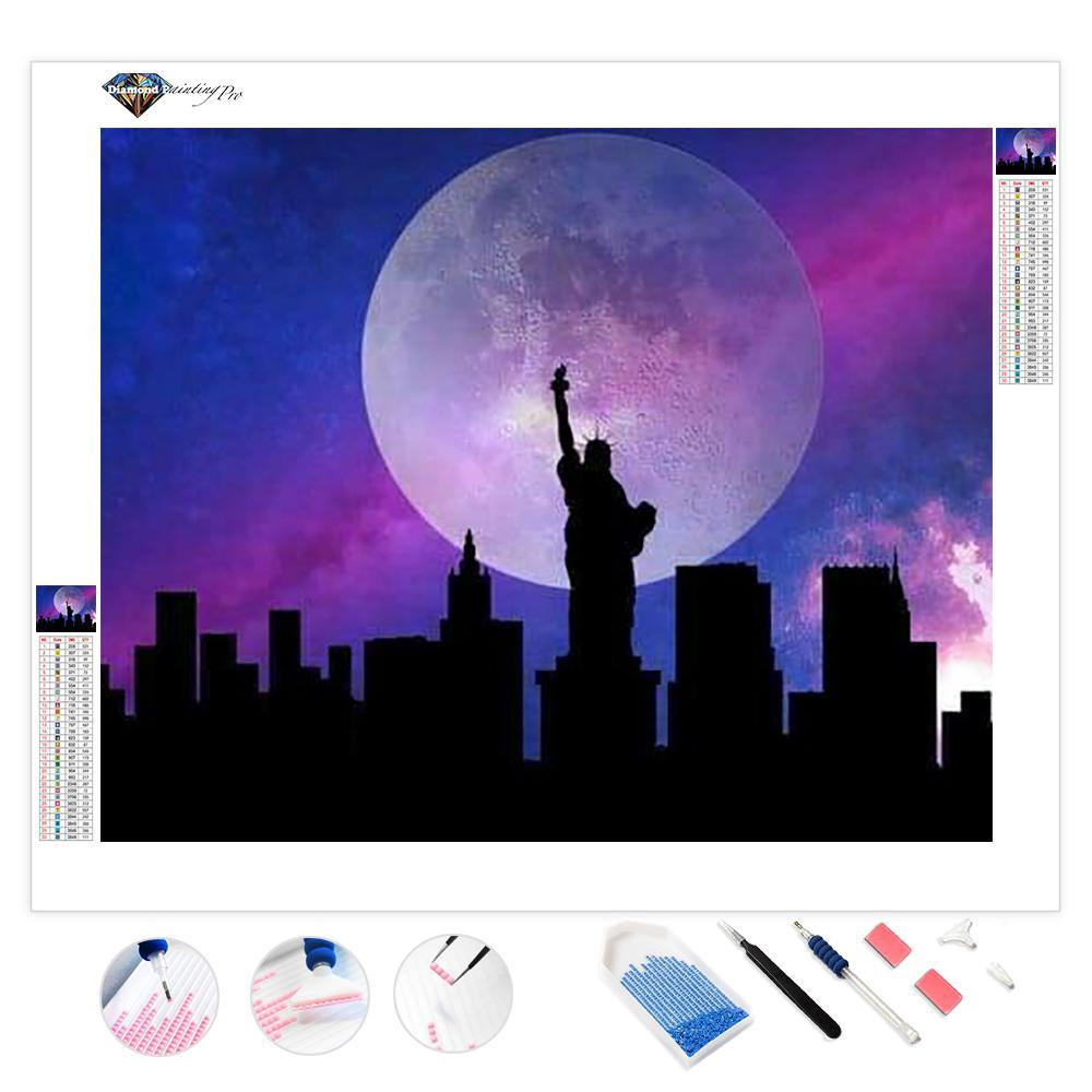 New York in the Moonlight | Diamond Painting
