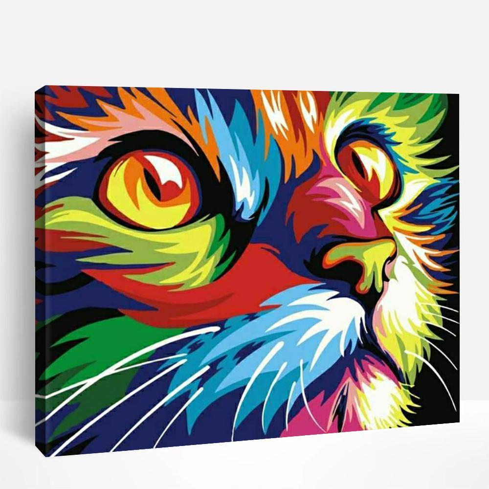 Rainbow Cat | Paint By Numbers