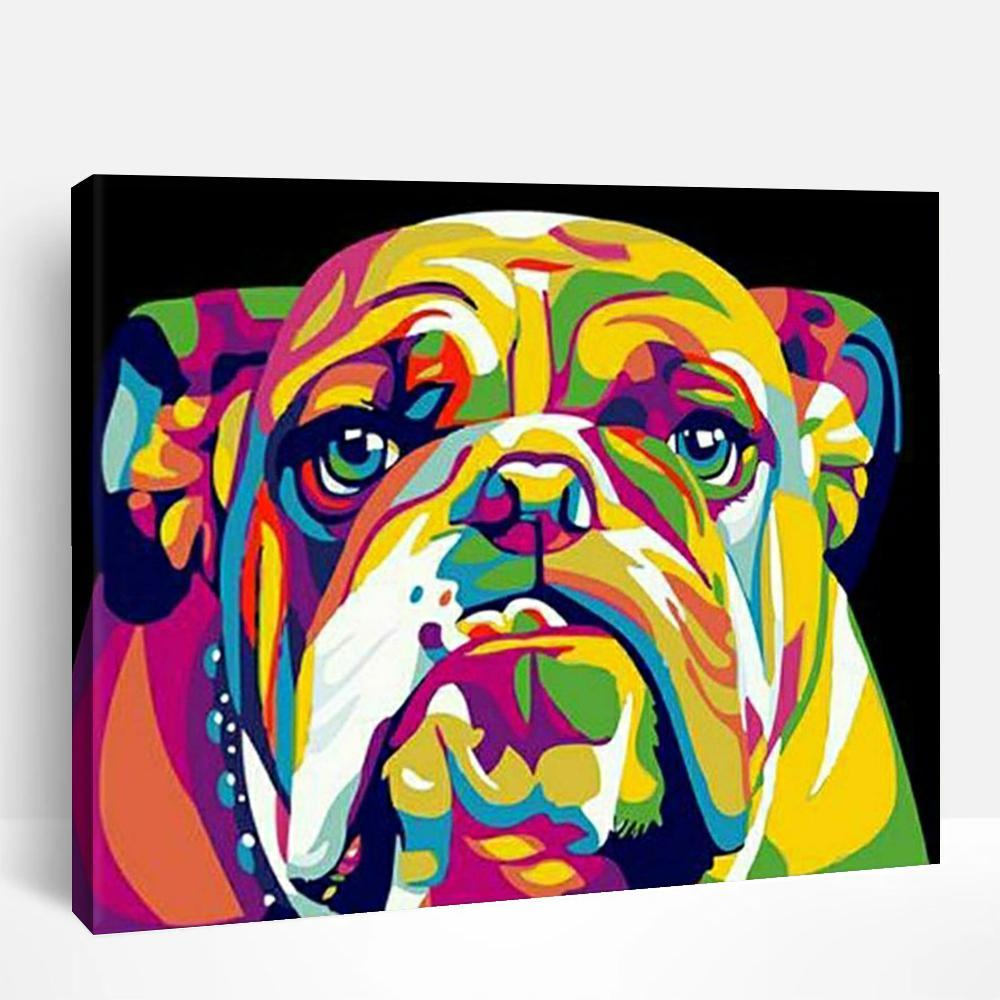 Abstract Bulldog | Paint By Numbers