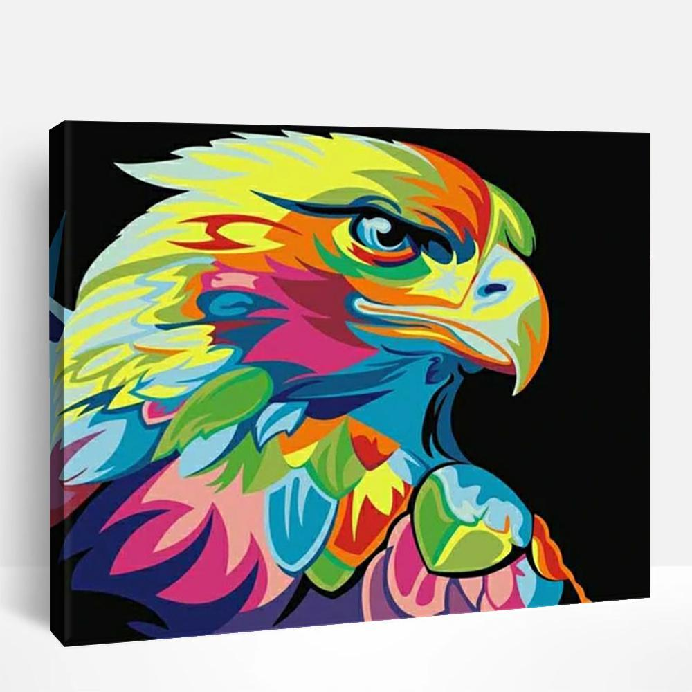 Neon Eagle | Paint By Numbers
