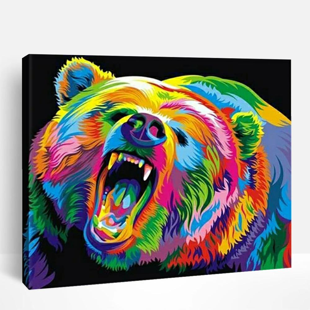 Neon Bear | Paint By Numbers