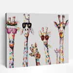 Stylish Giraffes | Paint By Numbers