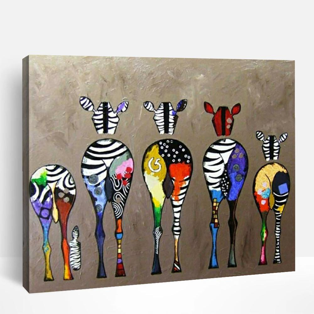 Zebra Bottoms | Paint By Numbers