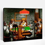 Dogs Playing Poker | Paint By Numbers