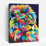 Colorful Abstract Lion | Paint By Numbers