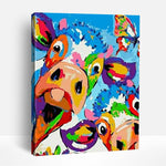 Exotic Colorful Cows | Paint By Numbers