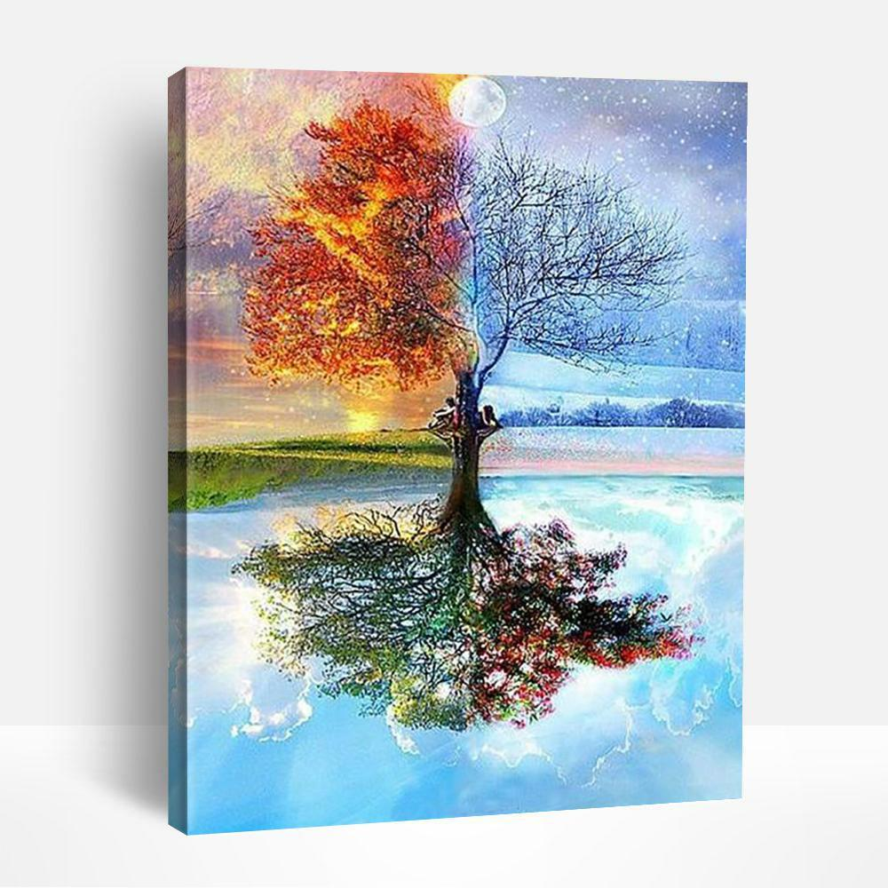 Four Season Tree of Life | Paint By Numbers