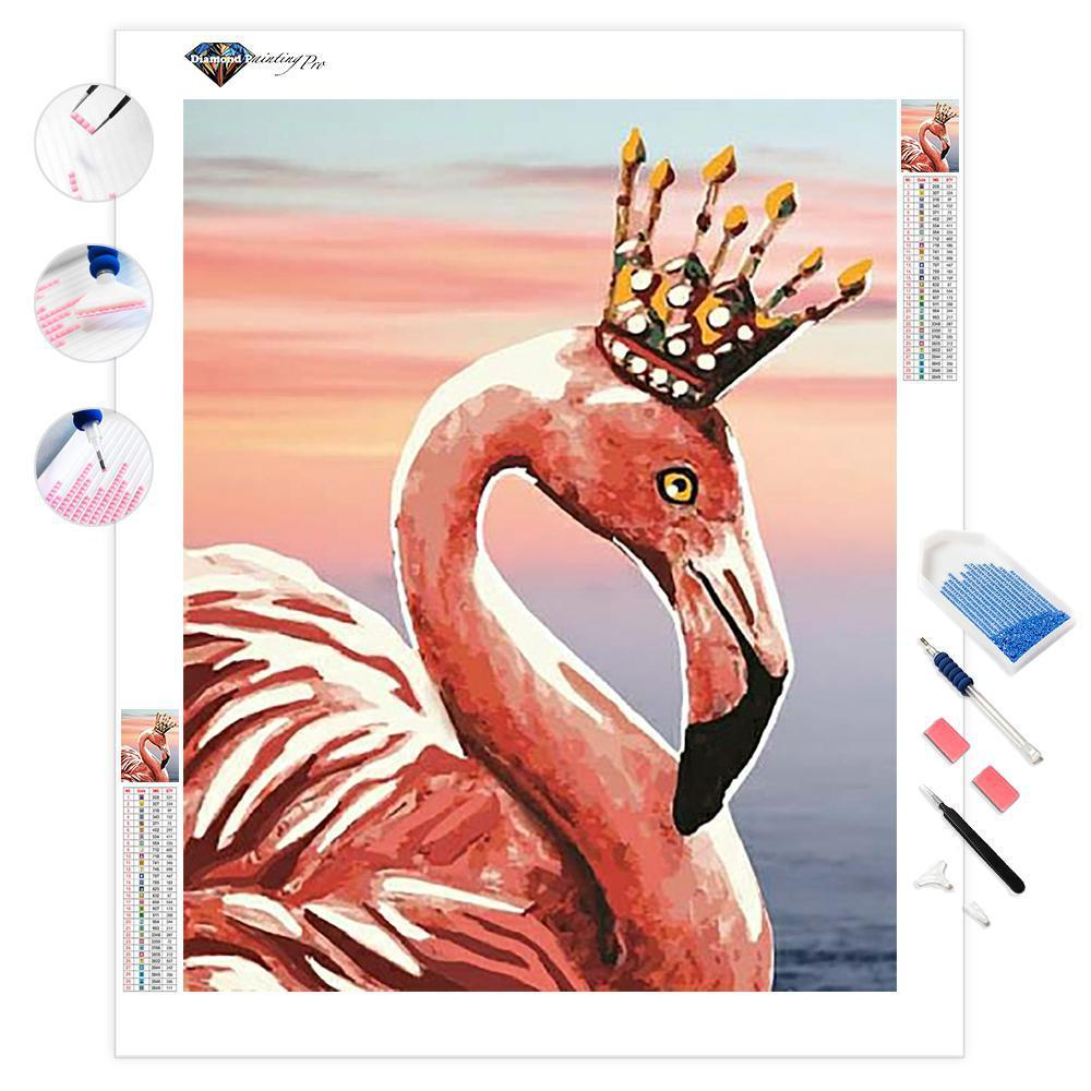 Wavy Flamingos | Diamond Painting
