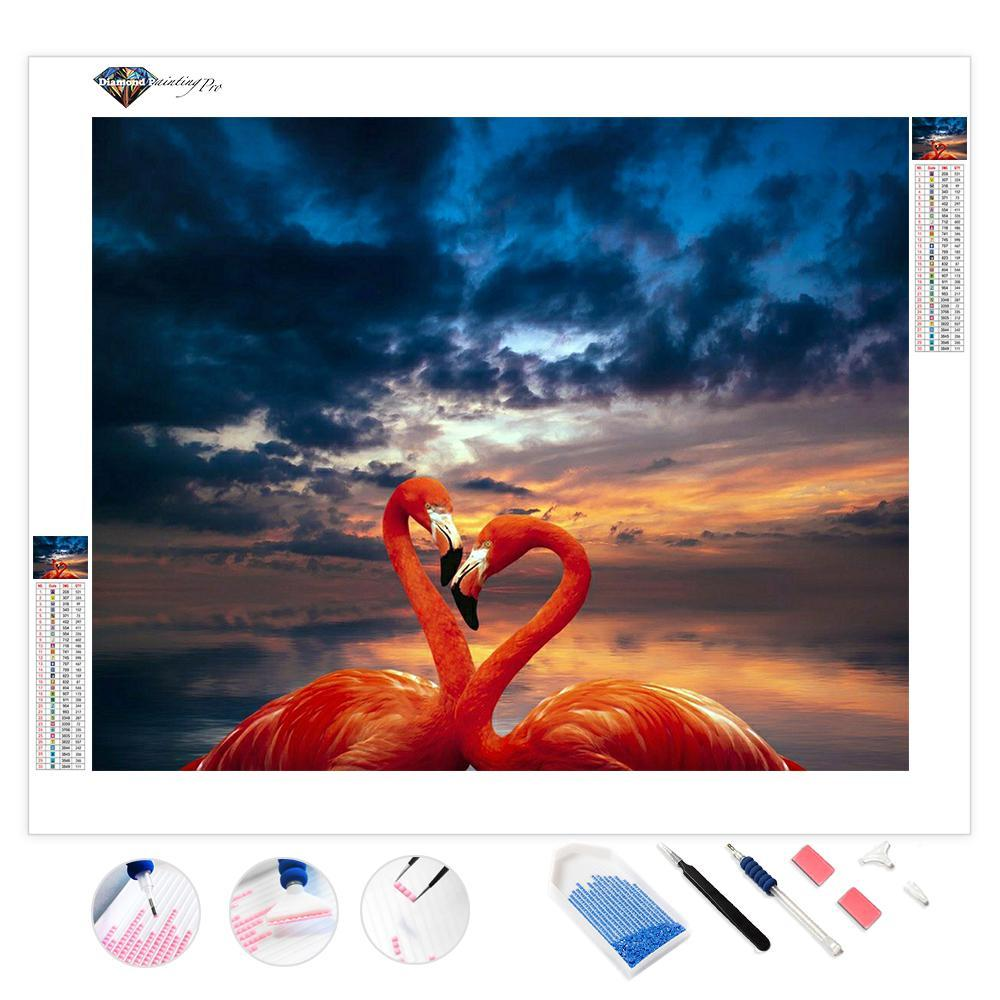 Flamingo at Sunset | Diamond Painting