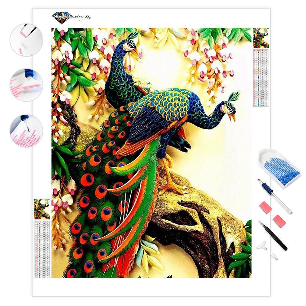 Peacock Love | Diamond Painting