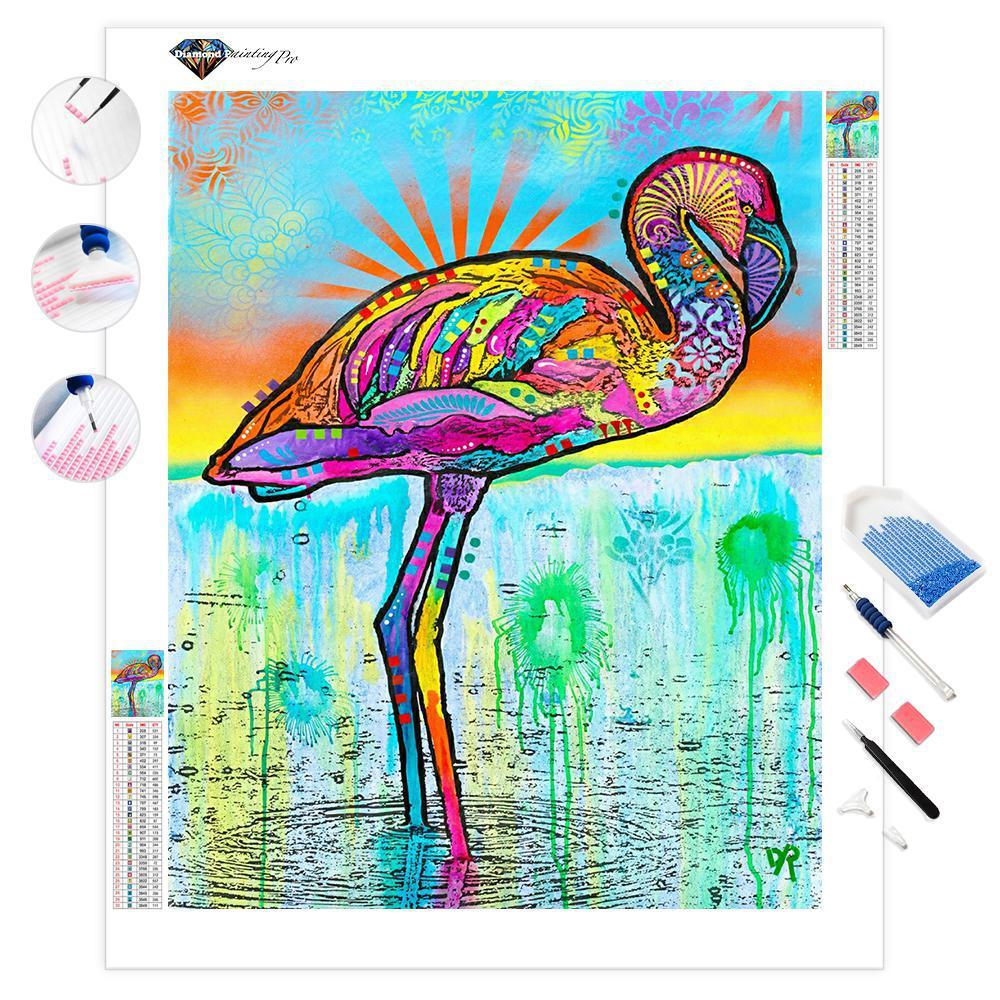 Pink Flamingo | Diamond Painting
