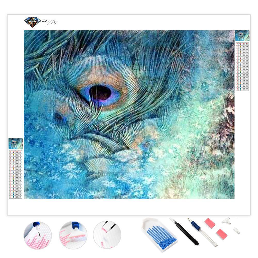 Peacock Feather Abstract | Diamond Painting