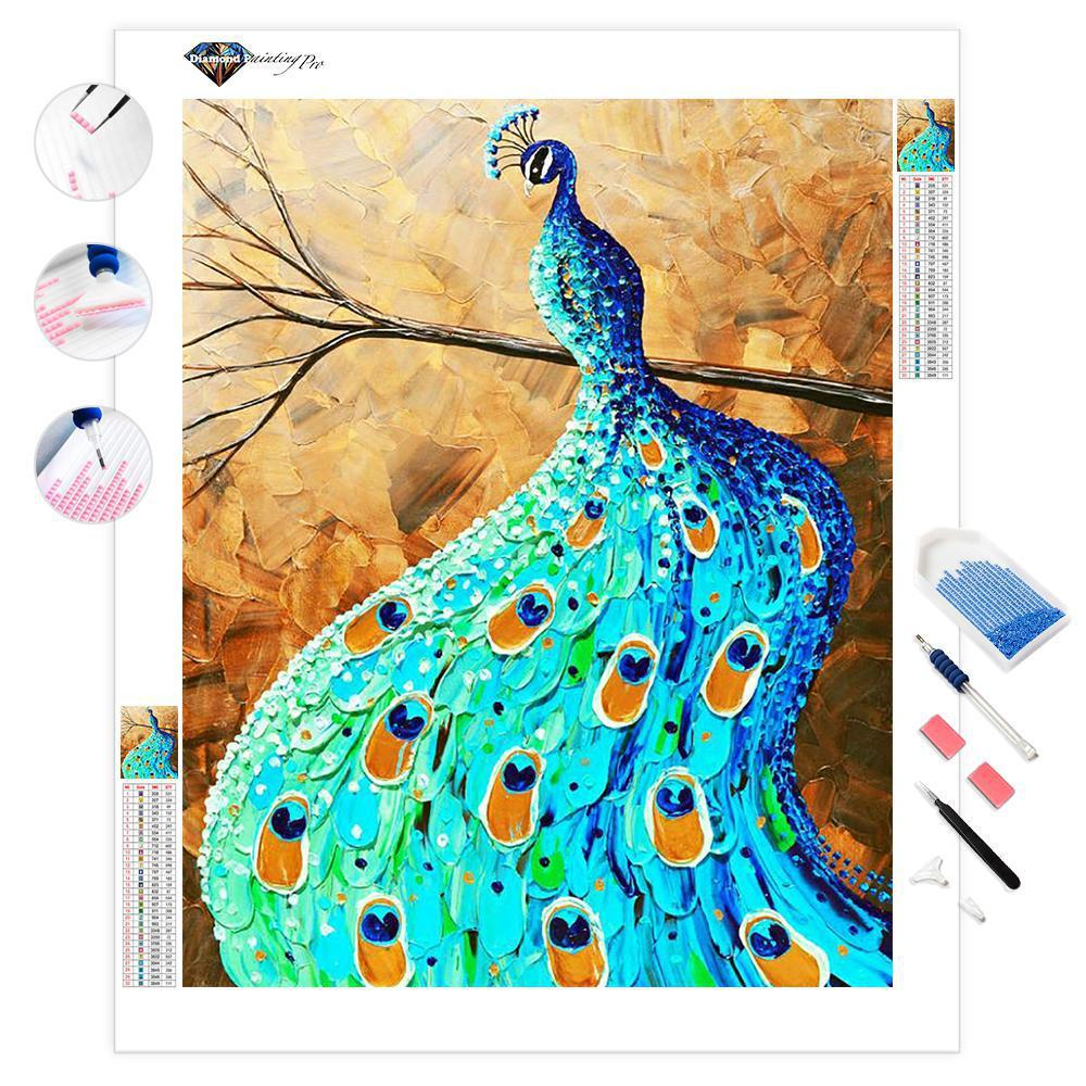 Proud and Graceful Peacock | Diamond Painting
