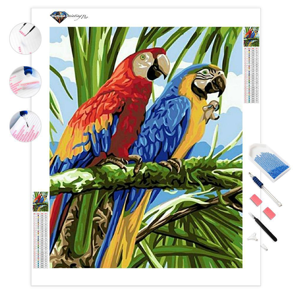 Parrot Couple | Diamond Painting