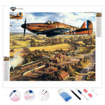 Warplane over Paris | Diamond Painting