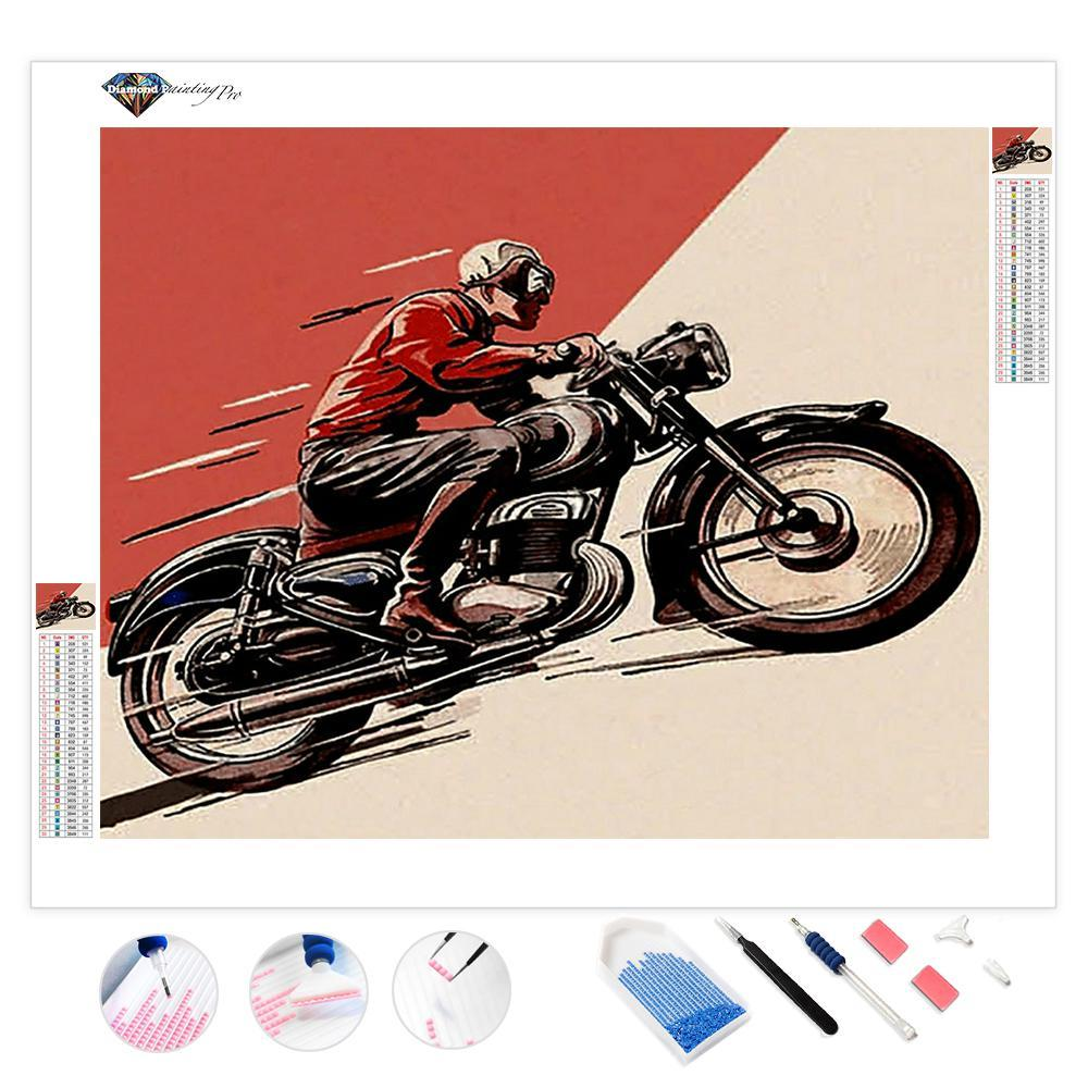 Antique Motorcycle | Diamond Painting