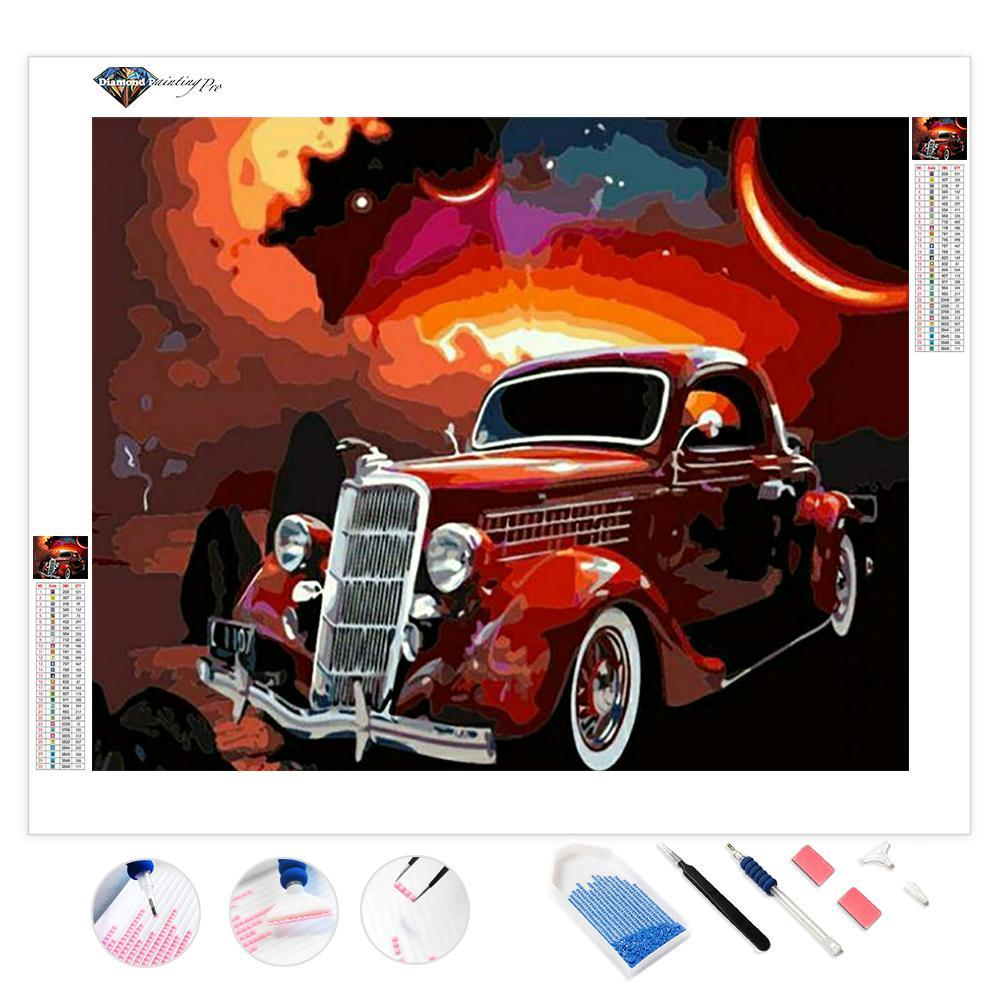 Magical Antique Car | Diamond Painting