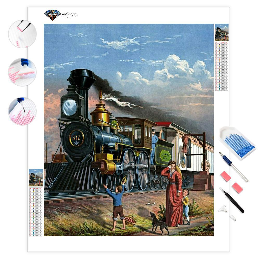 Old Steam Train | Diamond Painting