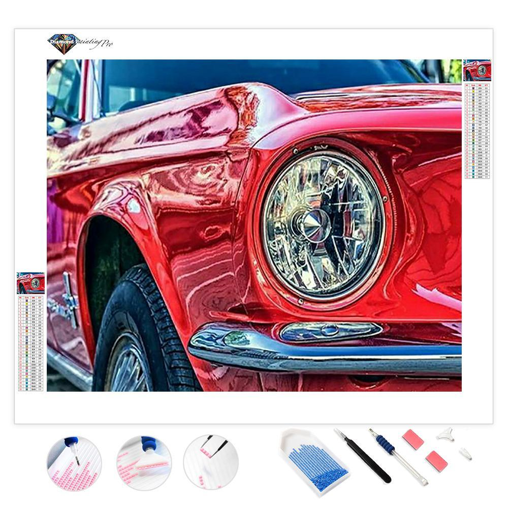 Red Cardiac Car | Diamond Painting