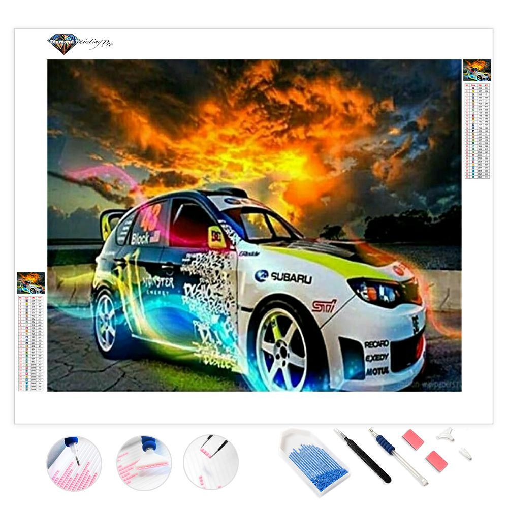 Sport Car on Fire | Diamond Painting