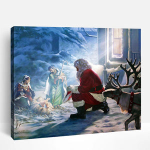 Santa Paying Homage | Paint By Numbers